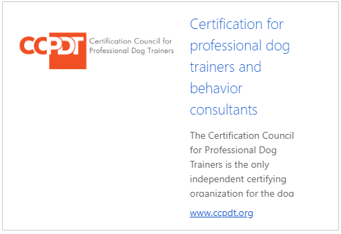 Certification for Professional Dog Trainers and behavior Consultants